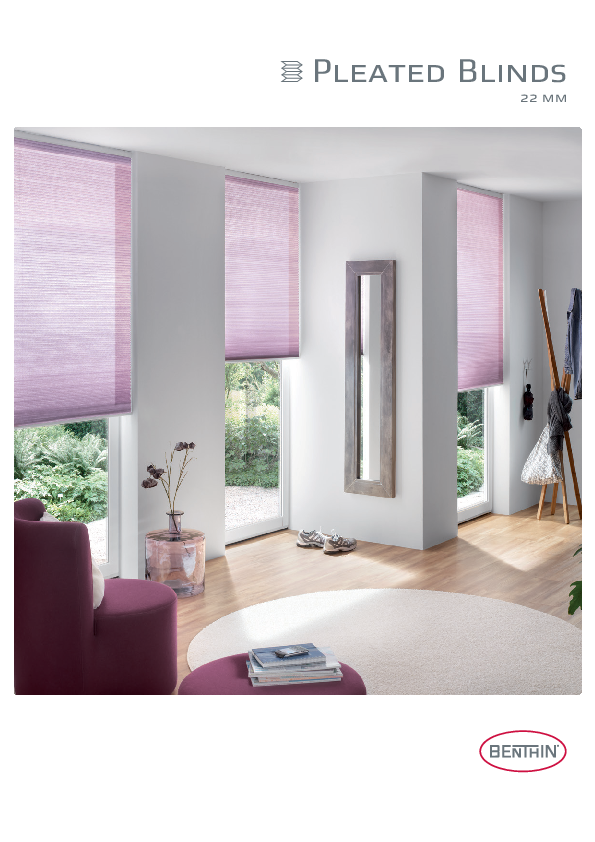 Product Brochure Pleated Blinds